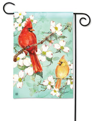 Cardinals in Spring Garden Flag
