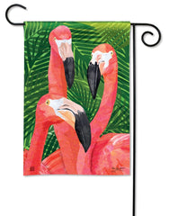 Flamingo Gathering Garden Flag