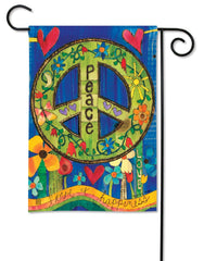 Peace Everywhere Garden Flag
