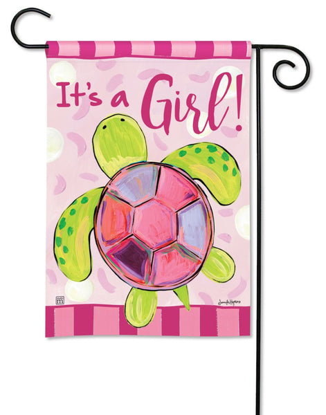 Sea Turtle - It's a Girl Garden Flag