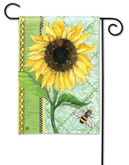 Single Sunflower Garden Flag