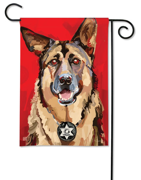 Loyal German Shepherd Garden Flag