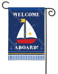 Sailboat Garden Flag