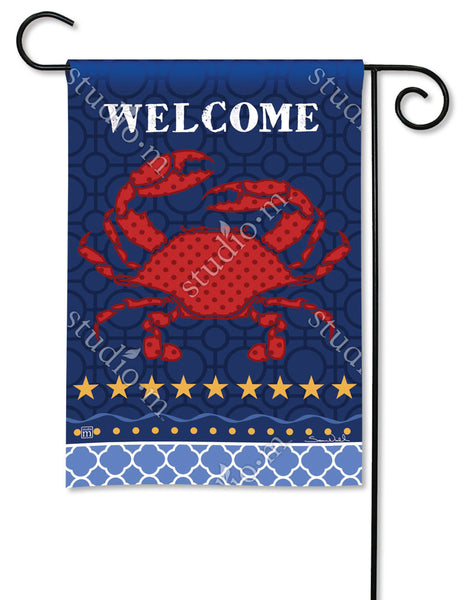 Coastal Crab Garden Flag