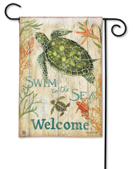 Swim in the Sea Garden Flag