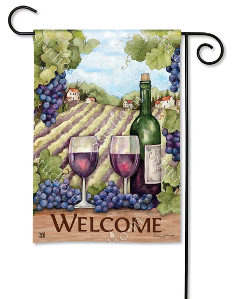 From Vineyard to Bottle Garden Flag