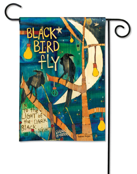 Blackbird Garden Flag