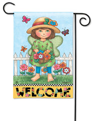 Fairies Welcome Garden Flag