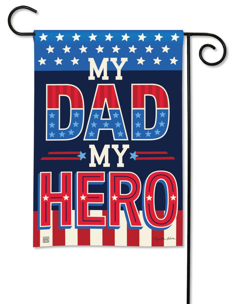 My Dad My Hero Garden Flag