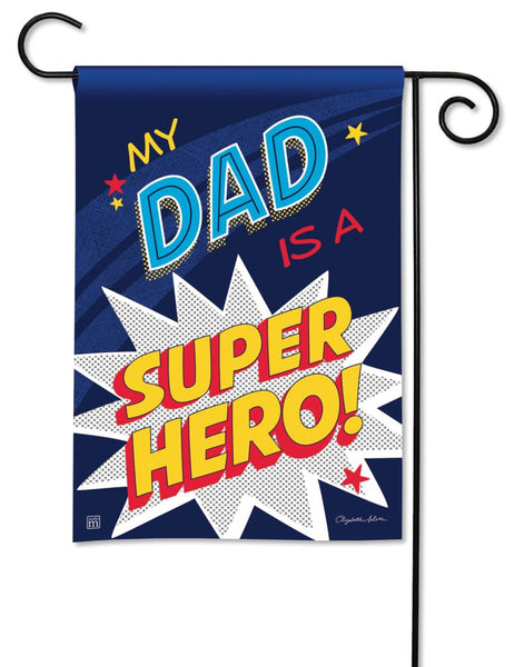 Dad Super Hero Garden Flag