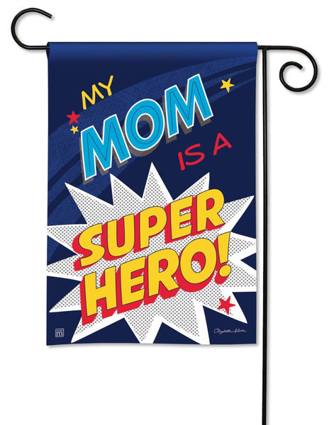 Mom Super Hero Garden Flag