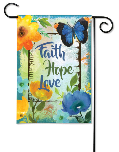 Have Faith, Hope, and Love Garden Flag