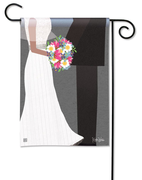 Wedding Couple Garden Flag