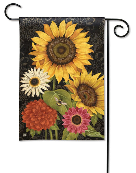 French Flowers Garden Flag