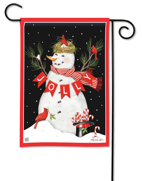 Jolly Snowman Garden Flag