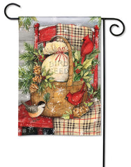 Front Porch Christmas Garden Flag