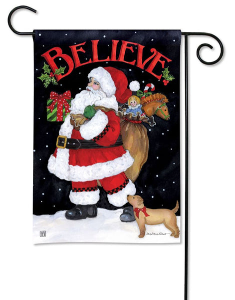 Believe in Santa Garden Flag