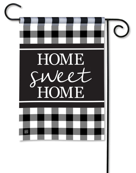 Black And White Check Garden Flag