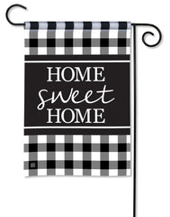 Black & White Check Garden Flag