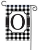Black & White Check Monogram O Garden Flag