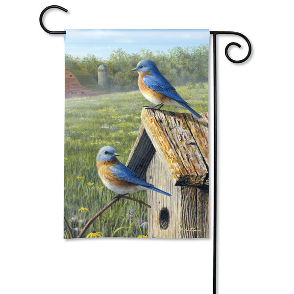 Summer Bluebirds Garden Flag