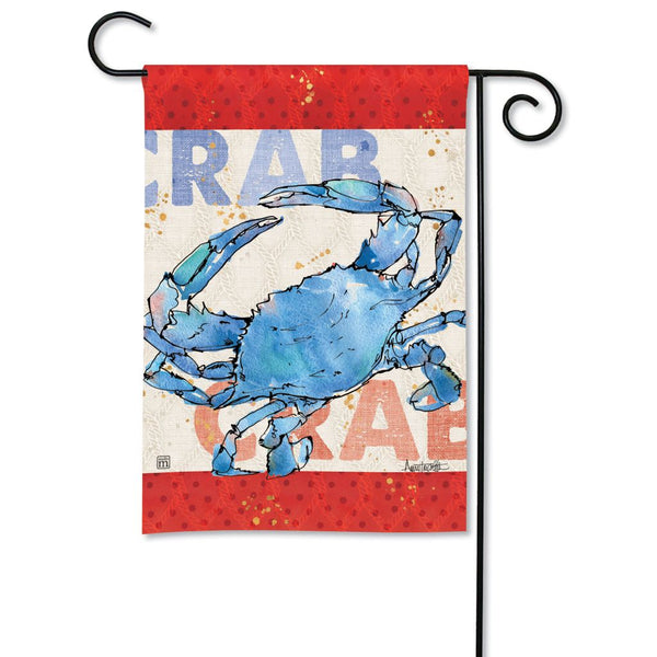 Nautical Crab Garden Flag