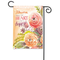 Fresh Flowers Garden Flag