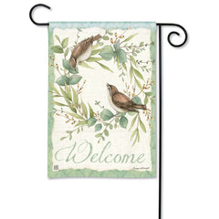 Eucalyptus Wreath Garden Flag