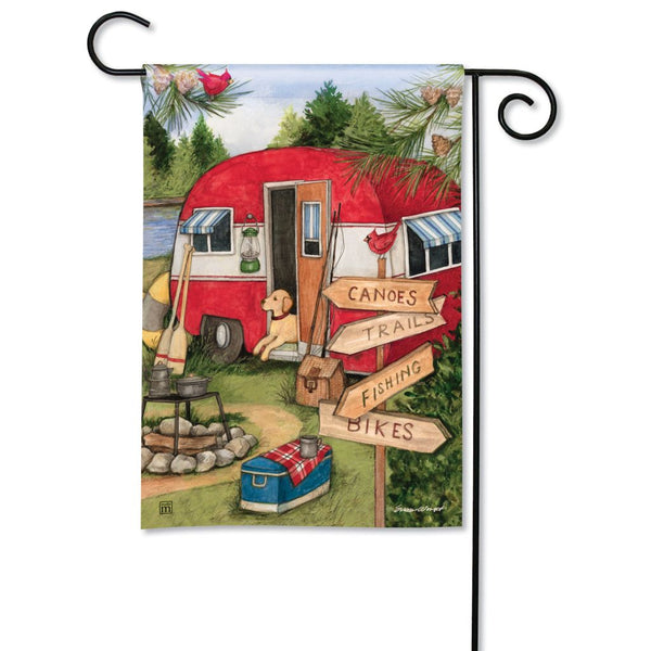 Camping Weekend Garden Flag