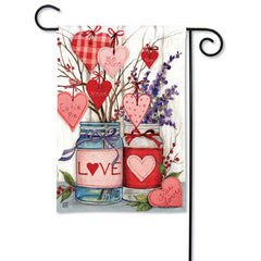 Filled With Love Garden Flag