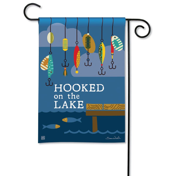 Hooked on the Lake Garden Flag
