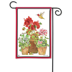Mary's Geraniums Garden Flag