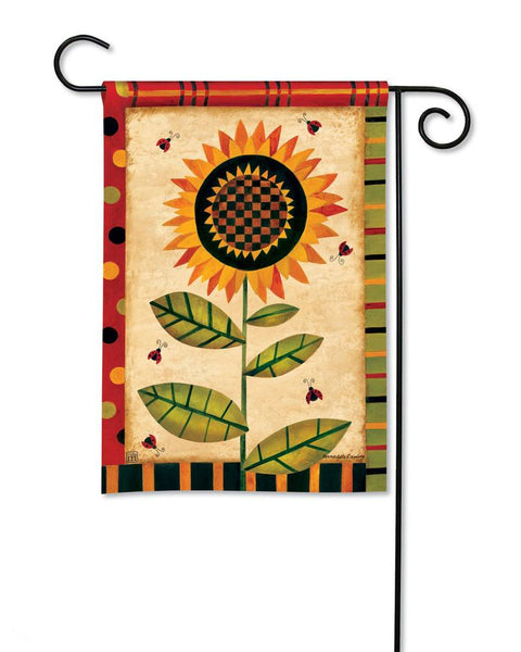 Happy Sunflower Garden Flag