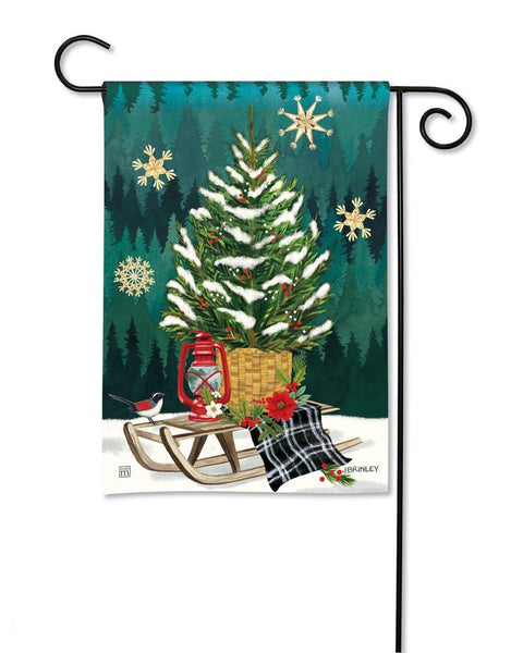 Scandi Christmas Tree Garden Flag