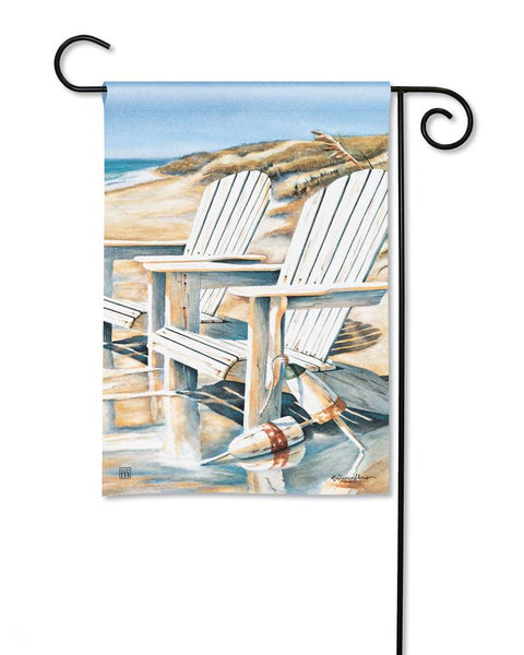 Beach Chairs Garden Flag