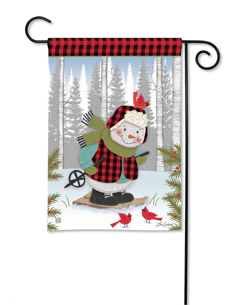 Winter Fun Snowman Garden Flag