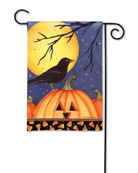 Halloween Crow Garden Flag