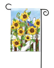 Sunflower Gate Garden Flag