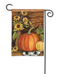 Harvest Gathering Garden Flag