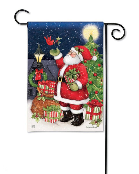 Hometown Santa Garden Flag