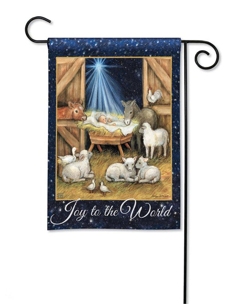 Joy to the World Garden Flag