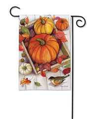 Pumpkin Crate Garden Flag