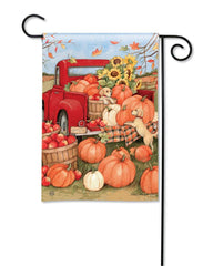 Pumpkin Delivery Garden Flag