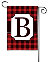Buffalo Check Monogram B Garden Flag