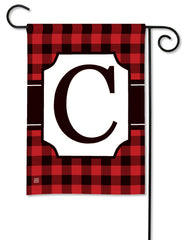 Buffalo Check Monogram C Garden Flag