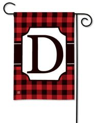 Buffalo Check Monogram D Garden Flag