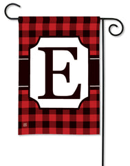 Buffalo Check Monogram E Garden Flag