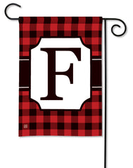 Buffalo Check Monogram F Garden Flag