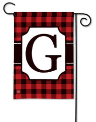 Buffalo Check Monogram G Garden Flag