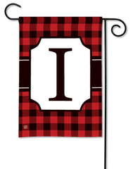 Buffalo Check Monogram I Garden Flag